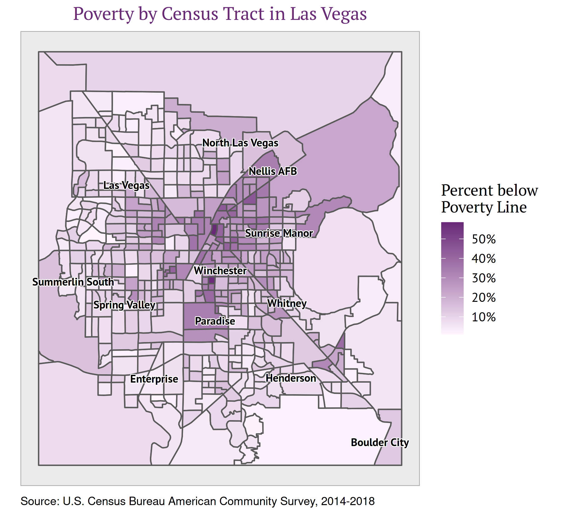 Figure 5: Poverty by Census Tract in Las Vegas, Nevada
